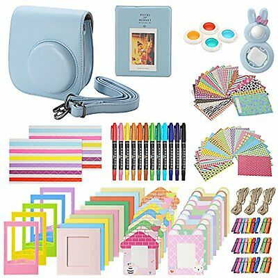 Accessories Kit for Fujifilm Instax Mini 8 & 8+ includes, (Blue) Case, Album,...