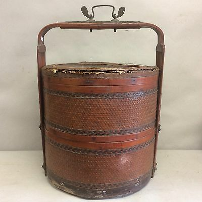 """Chinese Two-Tiered Food Basket 22"""""""