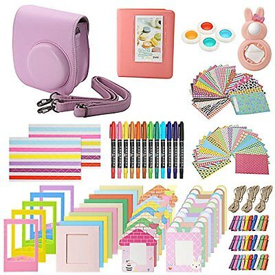 Accessories Kit for Fujifilm Instax Mini 8 & 8+ includes, (Pink) Case, Album,...