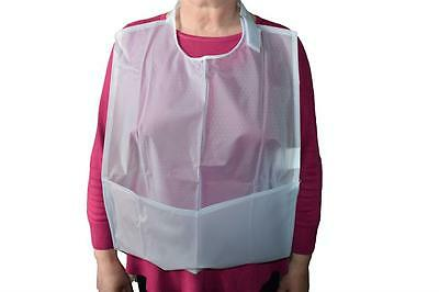 Crumb Catcher Apron - Adult Dining Bib - Large Pocket To Catch Liquids And Food.