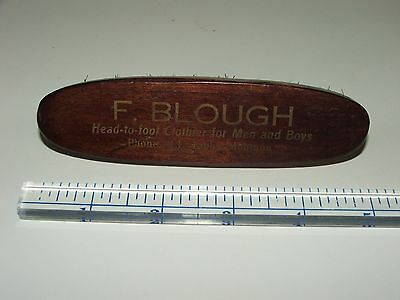 Antique F. BLOUGH Clothier Advertising BRUSH Libby Montana