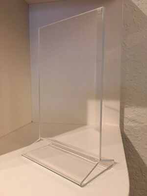 *100pc Clear Acrylic Plastic 4x6 Table tent Menu holder Card display Photo Frame