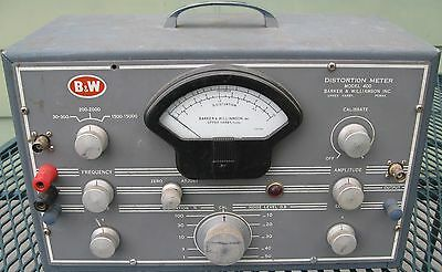B&W Model 400 Distortion Meter Barker & Williamson. POWERS UP