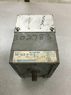 Used Barber-Coleman Actuator Ma-418-0-0-2