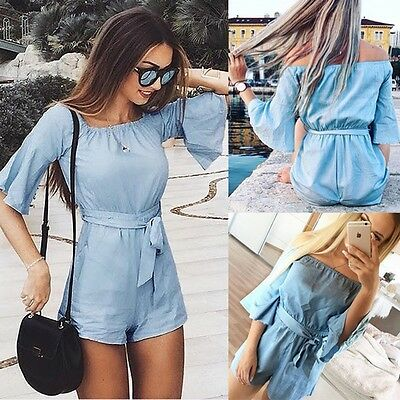 Ladies Women Clubwear Playsuit Bodycon Party Jumpsuit Romper Trousers Summer