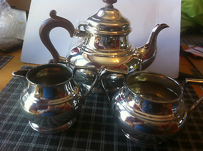 lot 671 solid silver three piece tea set George v1 1942 a heavy 1502 grams