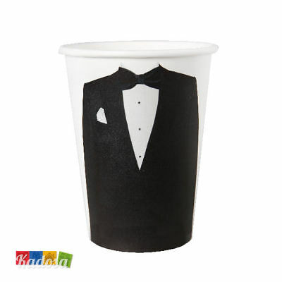 Set 10 Bicchieri di Carta MR Party Festa - Mr & Mrs Matrimonio Uomo Groom Sposo