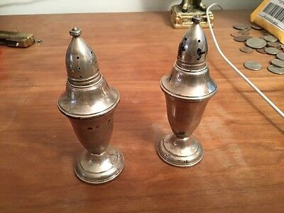Pair Of VTG Sterling Silver Salt&Pepper Shakers Weighted