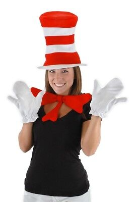 Dr. Seuss Cat In The Hat Costume Accessory Kit Adult One Size