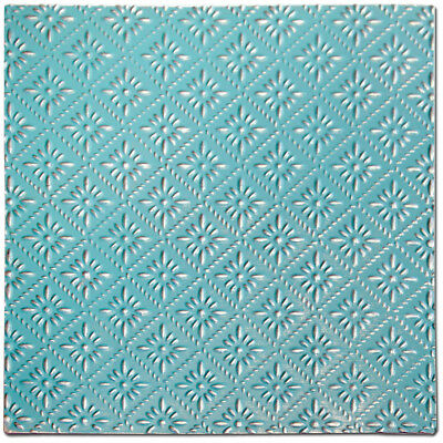 """Salvaged Tin Ceiling Tile 12""""X12"""" Turquoise Rosette TCT-TRQRO"""