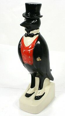 "PENGUIN - Porcelain Liquor Decanter / Bottle (Empty) Vintage - 12"" Tall"