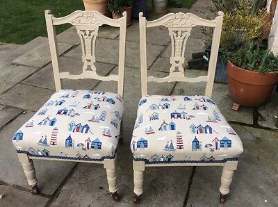 Pair of Edwardian Nursing/occasional chairs