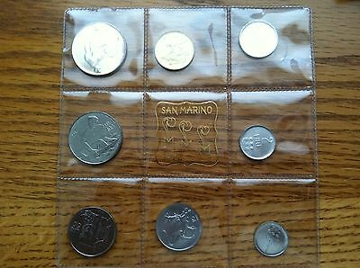 San Marino Collection Of 1972 Proof Coins And Stamps