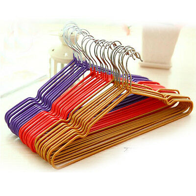10pcs Non-Slip Metal Clothes Hook Hangers Save-Space Storage Organizer Dry Rack