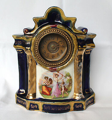 A vintage french clock, very rare one of a kind, porcelain severe.