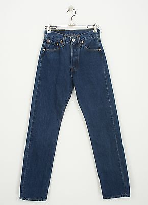 VINTAGE LEVI's 501 INDIGO BLUE JEANS size 23 x 30 MADE IN USA