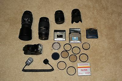 Nice Lot Canon EOS Lens, Flash, and Filters
