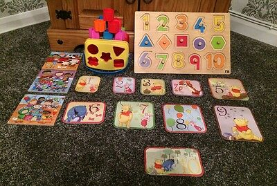 Shape Sorter, Puzzle And Jigsaw Bundle Mothercare, Fisher Price, ELC