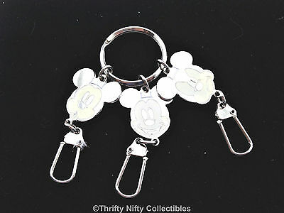 Lucky Brand MICKEY MOUSE KEYCHAIN Disney 3 FACES OF MICKEY Happy Grumpy Surprise