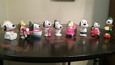 Vintage Snoopy Ceramic Ornaments
