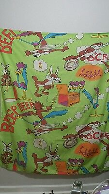 Warner Brothers Road Runner / Wile E Coyote hemmed material piece
