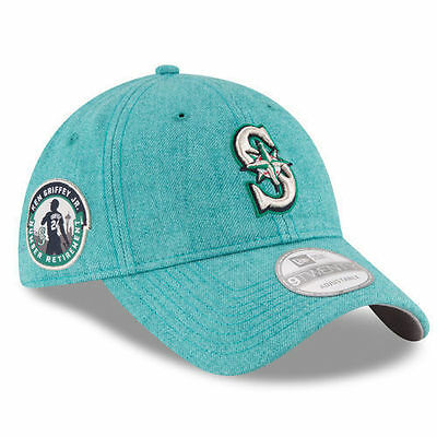 detailed pictures dd1d2 ccd06 Seattle Mariners Ken Griffey Jr. Patch MLB New Era 9TWENTY Adjustable Cap  Hat