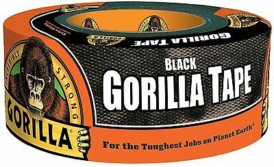 """Gorilla Duct Tape 1.88"""" x 12 yd Black Roll Single Double Thick Adhesive Tapes"""