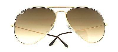 BN Ray-Ban Sunglasses RB3025 Aviator 001/51 62mm Gold Frame Brown Gradient Lens
