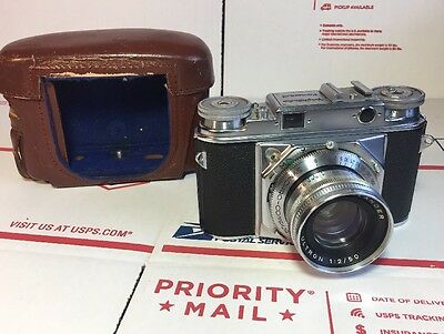 Voigtlander PROMINENT Camera w/ 50mm F2 Ultron Lens - Very Nice - SHIPS TODAY