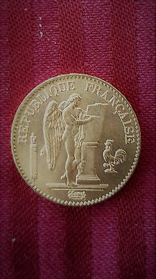 1896 French 20 Francs Gold Angel Coin