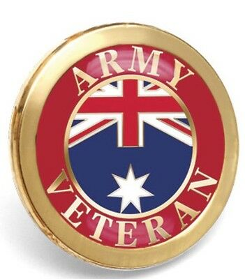 Army Veteran Badge Lapel *ANZAC Day * Remembrance Day