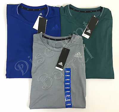 New Adidas Men's Short Sleeve Climalite Nova Performance Shirt Crewneck Wicking