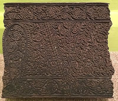 Vintage Hand carved Wooden Fabric Printing Block From Jaipur