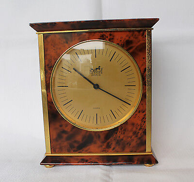 HERMES Paris-Name Brand Clock, very rare, quartz, excellent condition, working.