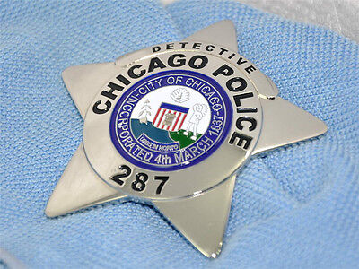 CPD Detective CHICAGO United Stated Props Metal Brooch 287 Cooper Badges Cosplay