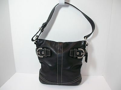 Coach Soho Purse Shoulder Hobo Bag Black Leather No 1453