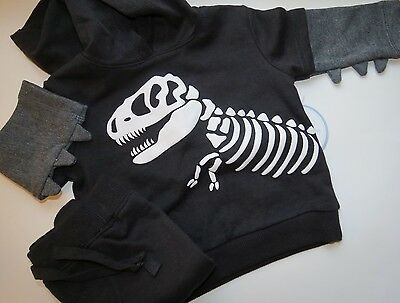 Baby Dinosaur Outfit - Hooded Shirt and Pant Set 3-6M - T Rex- NWT
