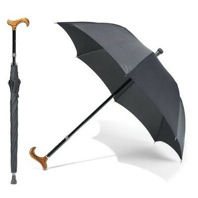 Cane Umbrella Walking Stick sun rain umbrella Wooden Handle