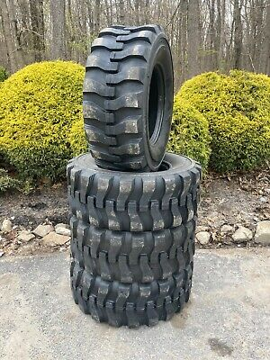 4 NEW 14-17.5 Skid Steer Tires 14x17.5-14 ply rating-for John Deere, New Holland