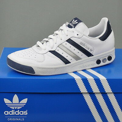 super popular 4db26 6e7c4 Adidas G. S.II Tennis Grand Slam sneaker in pelle uomo Bianco Blu Marino
