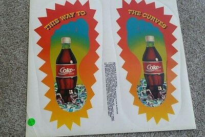 Coca Cola recall COKE BANNED DECAL FEEL THE CURVES . FLOOR STICKER . SOFT DRINK