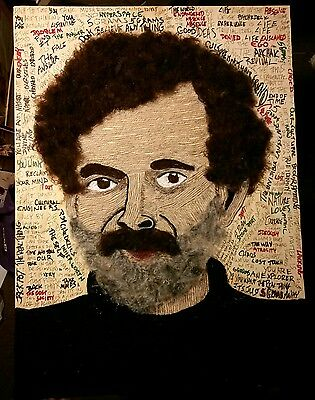 terence mckenna mixed media on wood  27 x 20 Archaic Revival