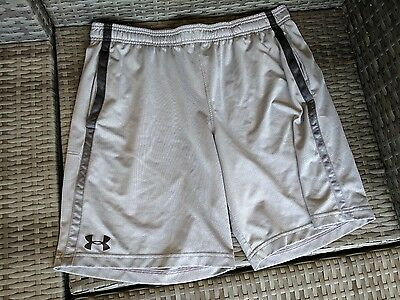Men's Under Armour Shorts XL Gray Black Basketball Loose Fit