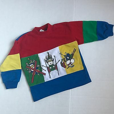 Vintage Snoopy Primary Color Light Sweater Unisex Pull Over 2/3T Girls Boys