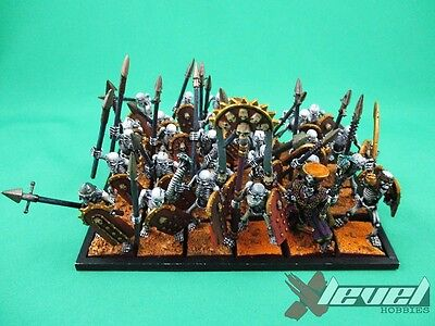 Lich Priest with 27 Skeletons  [x1] Tomb Kings [Warhammer] Painted