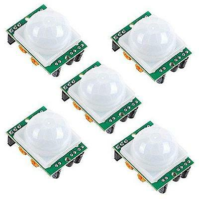 5 Pack HC-SR501 PIR Pyroelectric IR Infrared Motion Sensor for Arduino, New