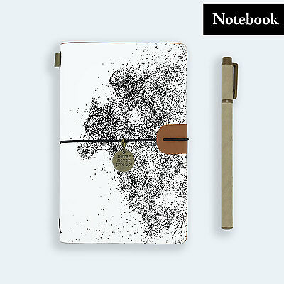Hand Made Genuine Leather Journal Travel Diary Travelers Notebook Size Horse