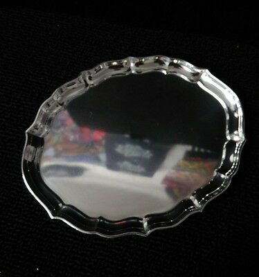 """Sterling Gorham CHIPPENDALE 42610 salver tray (1946) 8"""""""