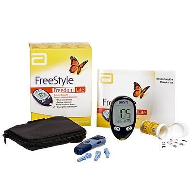Freestyle Freedom Lite Blood Glucose Monitoring System Kit mg/dL + 10 Strips