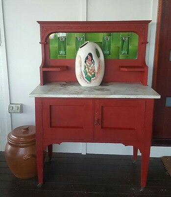 Antique Wash Stand Marble Top